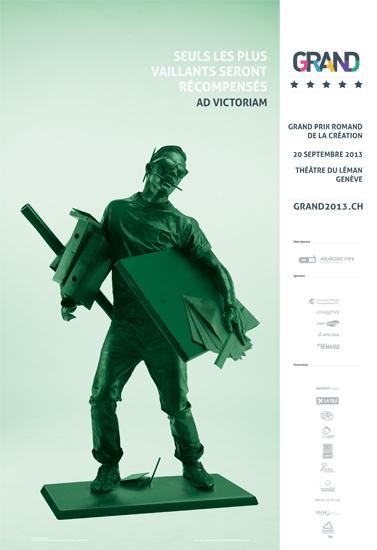 Affiche 2013 du GRAND, Grand Prix Romand de la Création.