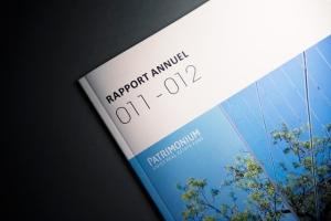 Page de couverture du rapport annuel 2011 2012 de Patrimonium AG